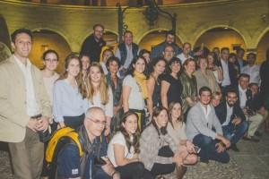 foto de parte de los asistentes a la recepción
